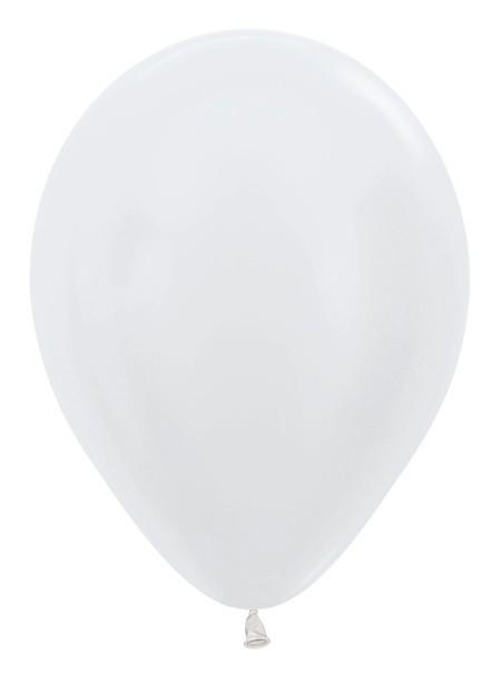 """R12 405 Balon okrągły 12"""" perłowy biały  Sklep Balonolandia"""