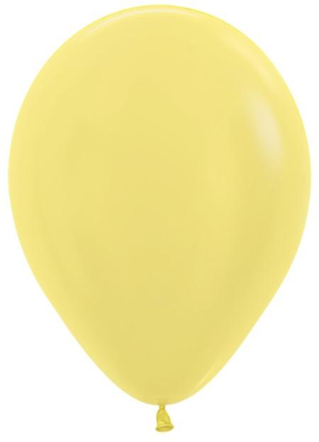 """R12 420 Balon okrągły 12"""" perłowy żółty  Sklep Balonolandia"""