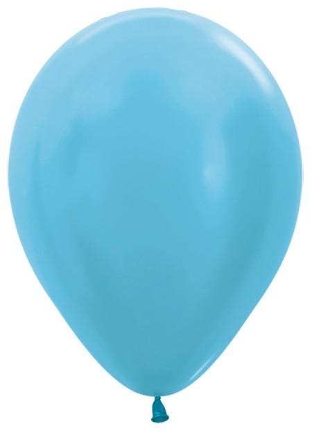 """R12 438 Balon okrągły 12"""" perłowy karaibski błękit  Sklep Balonolandia"""