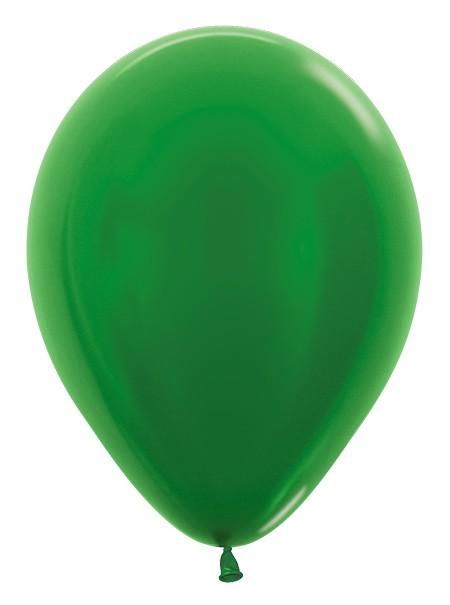 """R12 530 Balon okrągły 12"""" metalik zielony  Sklep Balonolandia"""