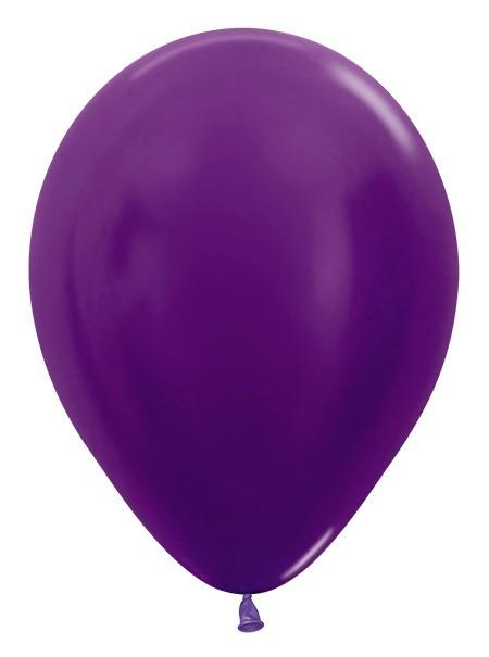 """R12 551 Balon okrągły 12"""" metalik fioletowy Sklep Balonolandia"""