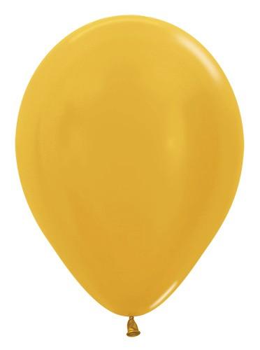 """R12 570 Balon okrągły 12"""" metalik złoty Balonolandia 4Pro"""