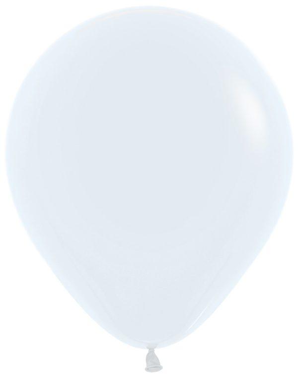 """R18 005 Balon okrągły 18""""  biały  Sklep Balonolandia"""