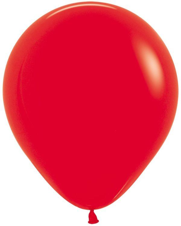 """R18 015 Balon okrągły 18"""" czerwony Sklep Balonolandia"""
