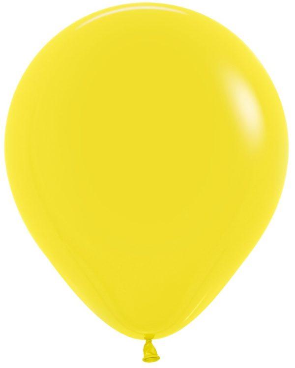 """R18 020 Balon okrągły 18"""" żółty Sklep Balonolandia"""