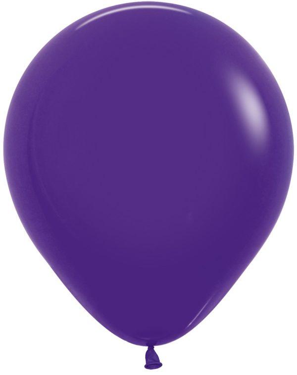 """R18 051 Balon okrągły 18"""" fioletowy Sklep Balonolandia"""