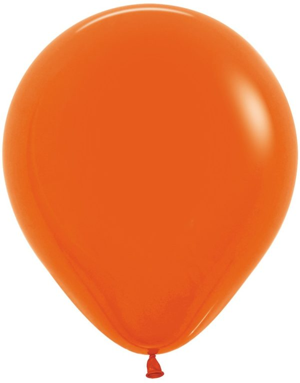 """R18 061 Balon okrągły 18"""" pomarańczowy Sklep Balonolandia"""