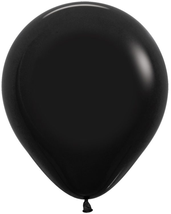 "R18 080 Balon okrągły 18"" czarny  Sklep Balonolandia"