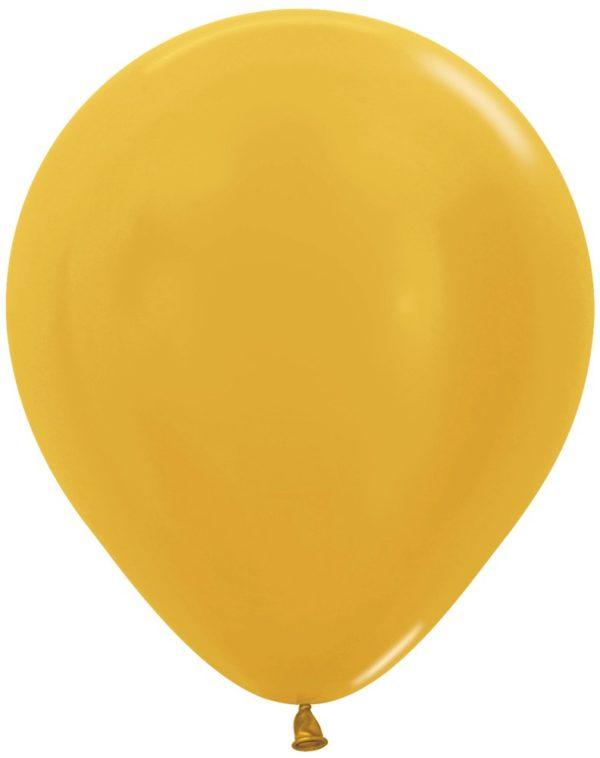 """R18 570 Balon okrągły 18"""" metalik złoty  Sklep Balonolandia"""