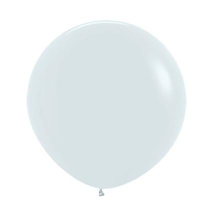 Balon kulisty 24 biały