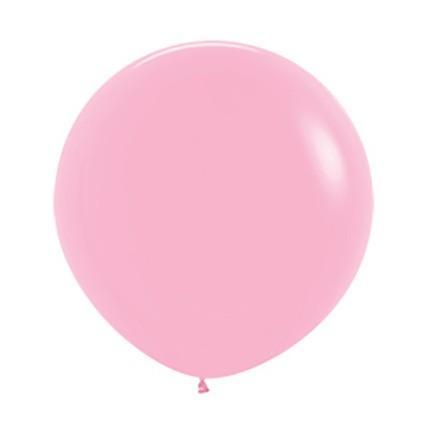 """R24 009 Balon okrągły 24"""" różowy  Sklep Balonolandia"""
