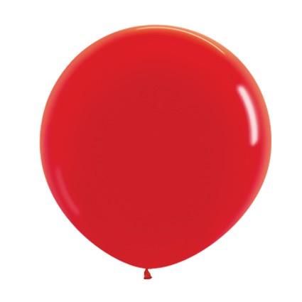Balon okrągły 24 czerwony