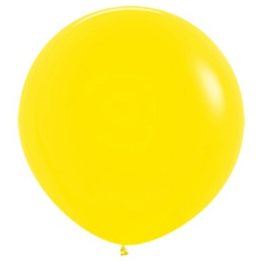 """R24 020 Balon okrągły 24"""" żółty  Sklep Balonolandia"""