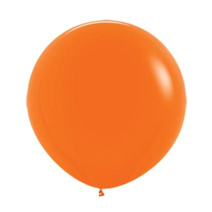 """R24 061 Balon okrągły 24"""" pomarańczowy  Sklep Balonolandia"""
