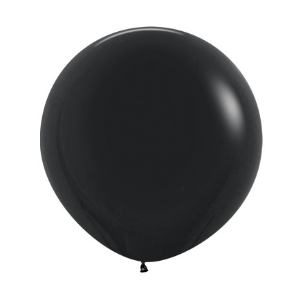"R24 080 Balon okrągły 24"" czarny  Sklep Balonolandia"