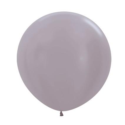 Balon okrągły 24 perłowy greige