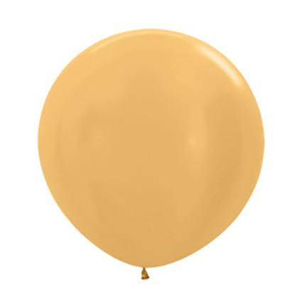 Balon okrągły 24 metalik złoty