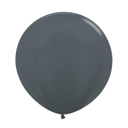 """R24 578 Balon okrągły 24"""" metalik grafitowy  Sklep Balonolandia"""