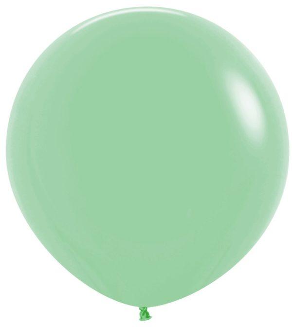 Balon kulisty 36 miętowa zieleń