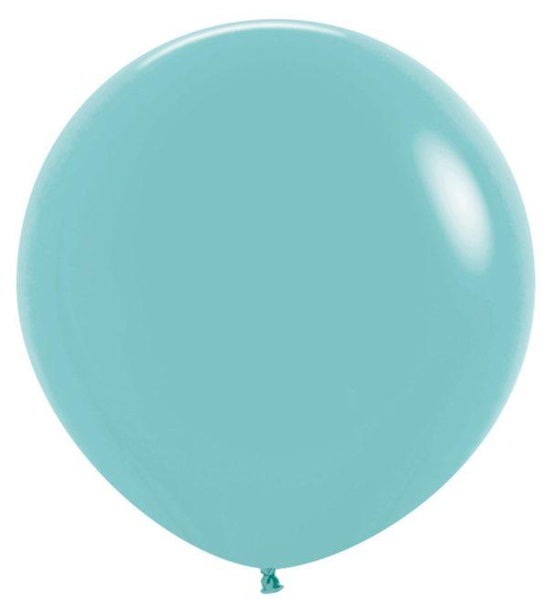 """R36 037 Balon okrągły 36""""  akwamaryna  Sklep Balonolandia"""