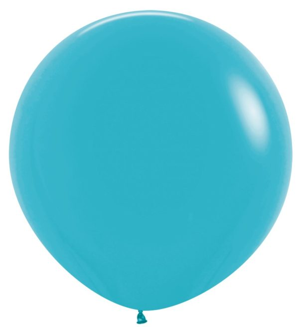"R36 038 Balon okrągły 36""  karaibski błękit  Sklep Balonolandia"