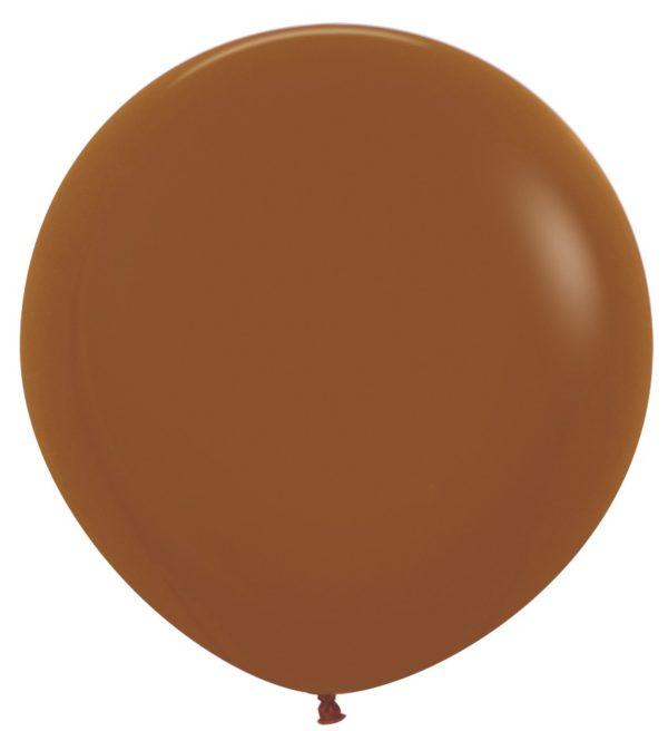 Balon kulisty 36 karmelowy