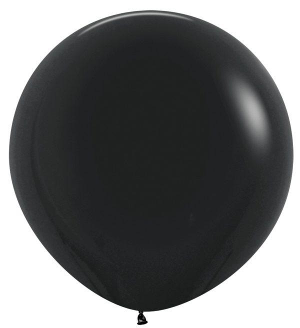 "R36 080 Balon okrągły 36""  czarny  Sklep Balonolandia"
