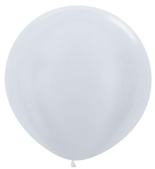 Balon kulisty 36 perłowy biały