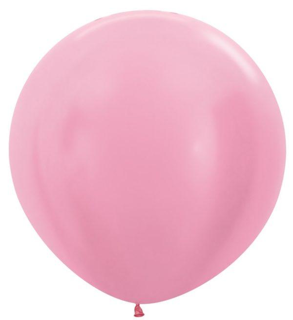 """R36 409 Balon okrągły 36"""" perłowy różowy  Sklep Balonolandia"""