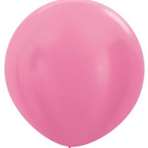 Balon kulisty 36 perłowy fuksja