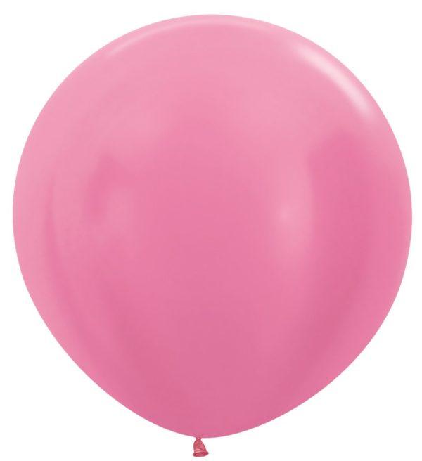 """R36 412 Balon okrągły 36"""" perłowy fuksja  Sklep Balonolandia"""