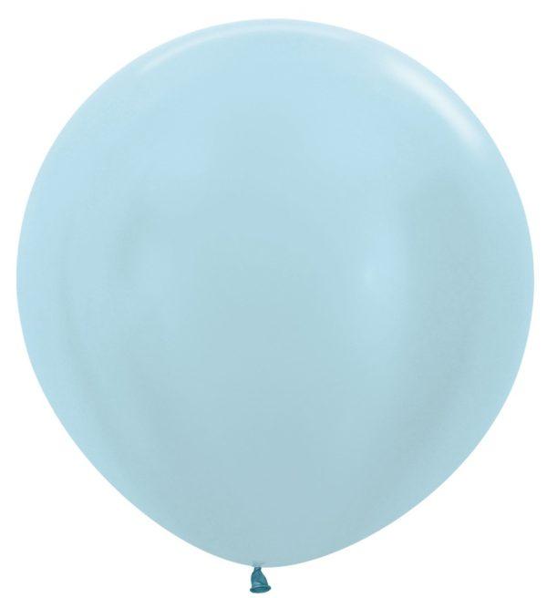 """R36 440 Balon okrągły 36"""" perłowy niebieski  Sklep Balonolandia"""