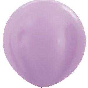 Balon kulisty 36 perłowy lila
