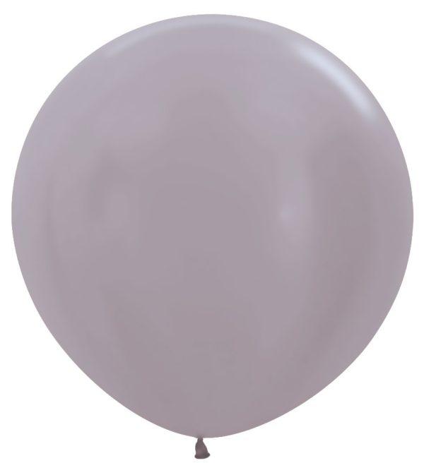 Balon kulisty 36 perłowy greige (beżowoszary)