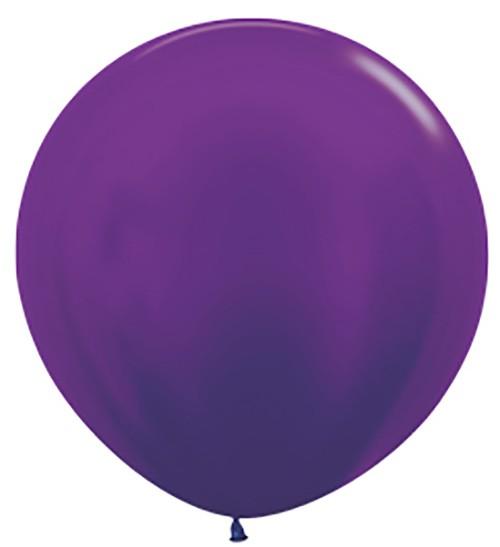 """R36 551 Balon okrągły 36"""" metalik fioletowy  Sklep Balonolandia"""