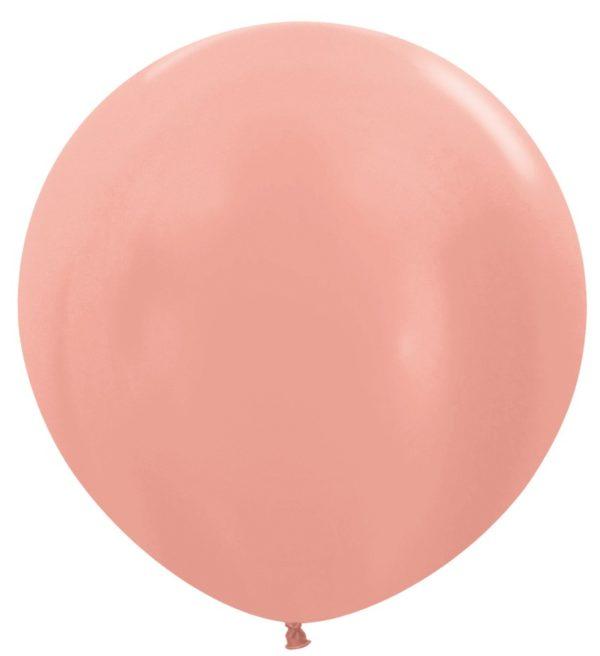 Balon kulisty 36 metalik różowe złoto