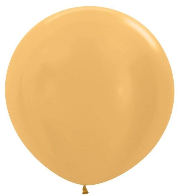 Balon kulisty 36 metalik złoty