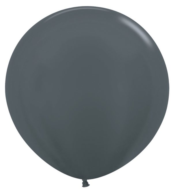 """R36 578 Balon okrągły 36"""" metalik grafitowy  Sklep Balonolandia"""