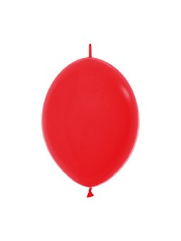 """LOL6 015 Balon z łącznikiem 6"""" czerwony Balonolandia 4Pro"""
