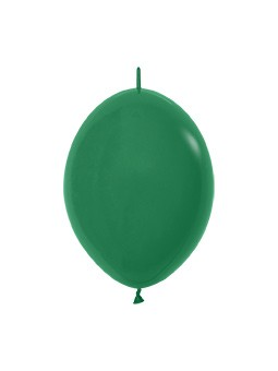 """LOL6 032 Balon z łącznikiem 6"""" leśna zieleń Balonolandia 4Pro"""