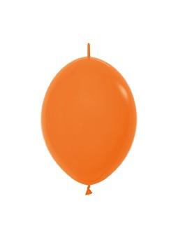 """LOL6 061 Balon z łącznikiem 6"""" pomarańczowy  Sklep Balonolandia"""