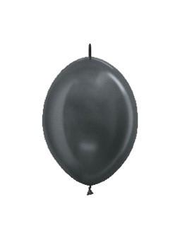 """LOL6 578 Balon z łącznikiem 6"""" metalik grafitowy Sklep Balonolandia"""