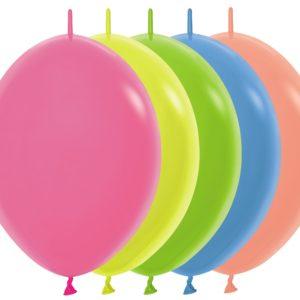 Balon z łącznikiem 12 Neon Mix