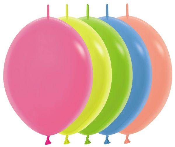 """LOL12 200 Balon z łącznikiem 12"""" Neon Mix  Sklep Balonolandia"""