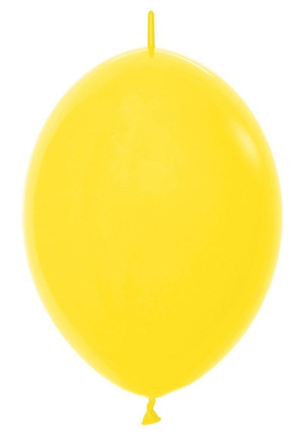 Balon z łącznikiem 12 żółty