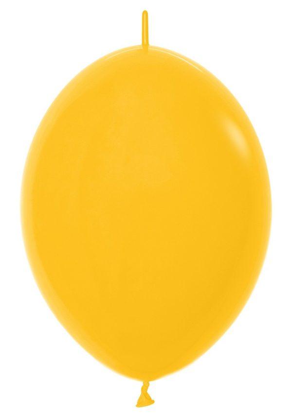 Balon z łącznikiem 12 goldenrod
