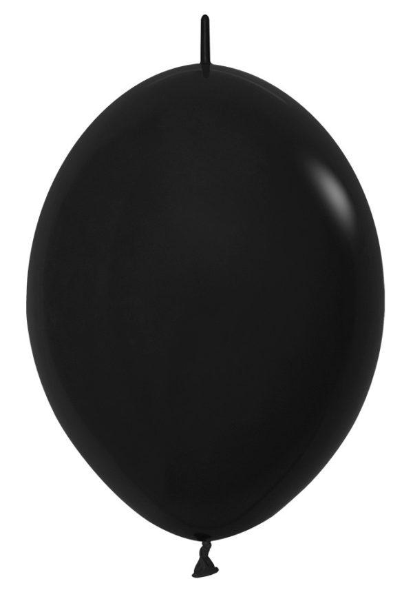 Balon z łącznikiem 12 czarny