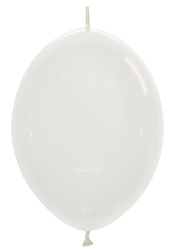Balon z łącznikiem 12 transparentny