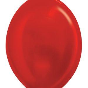 Balon z łącznikiem 12 metalik czerwony