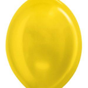 Balon z łącznikiem 12 metalik żółty